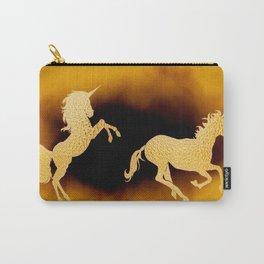Golden couple unicorns-Beige Carry-All Pouch