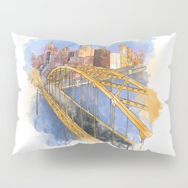 Pittsburgh Fort Pitt and Downtown Pillow Sham