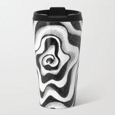 Doodled Rose & Vine Travel Mug
