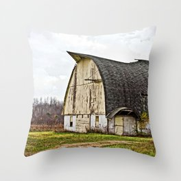 Wisconsin Old Barn 1 Throw Pillow