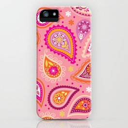 Colorful summer paisleys iPhone Case