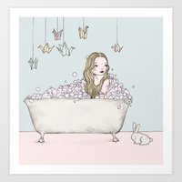 bath Art Prints featuring Bath by Annika Bäckström