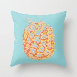 Brit Milah PINEAPPLE - blue Throw Pillow