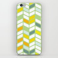 herringbone iPhone & iPod Skins featuring Herringbone by Jaybeak