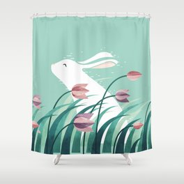 Rabbit, Resting Shower Curtain