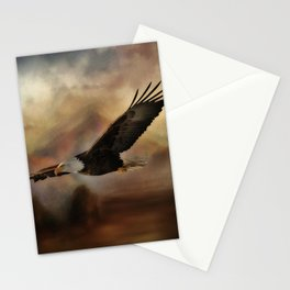 Eagle Flying Free Stationery Cards