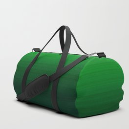 Emerald Green Stripe Design Duffle Bag