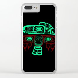 Native American style Tlingit Thunderbird Clear iPhone Case