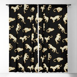 Leopard at Night Blackout Curtain