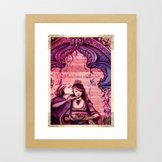 Portia - Shakespeare's Merchant of Venice Folio Illustration- A Kiss  Framed Art Print