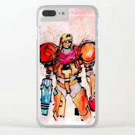 Samus Aran Clear iPhone Case
