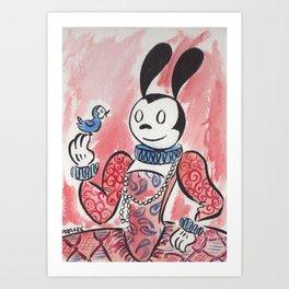 Fancy Oswald Art Print