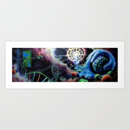 Amazing Space Surreal Psychedelic Art by Vincent Monaco, First Days Art Print