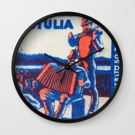 Old Matchbox label #5 Wall Clock