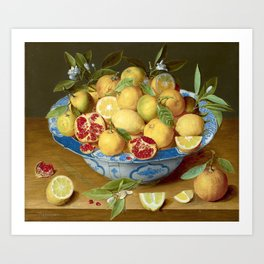 Still Life with Lemons, Oranges and a Pomegranate Art Print