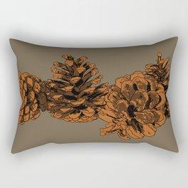 Brown on Brown Pine Cones Rectangular Pillow