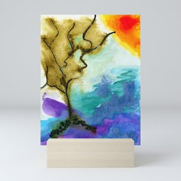 Galapagos Sandscape #Abstract #Watercolors Mini Art Print