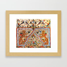 old motives / colorful / Armenian  Framed Art Print