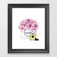 Coco Mademoiselle Fashion Drawing Wall Art Fashion Illustration Print Perfume Coco Custom Art Framed Art Print