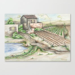 Italian Wine Country Canvas Print