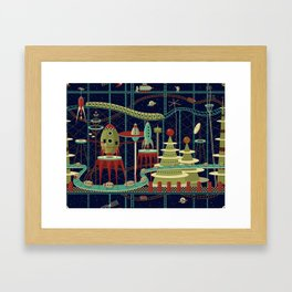 Fantastic Launch Station Framed Art Print