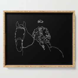 Horse and Fashion Noir Serving Tray