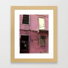 red peace Framed Art Print