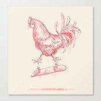 cock Canvas Prints featuring Cock Flip by Sarah Kamada