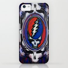 Grateful Dead 'Steal Your Face' Psychedelic Skull Optical Illusion Slim Case iPhone 5c