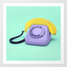 Telephone Banana Art Print