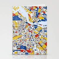 amsterdam Stationery Cards featuring Amsterdam by Mondrian Maps