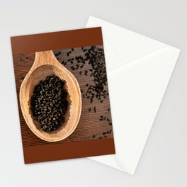 Black Nigella Sativa dry seeds portion Stationery Cards