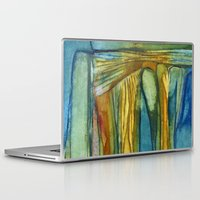 swimming Laptop & iPad Skins featuring Swimming by Mary Ross: mary made