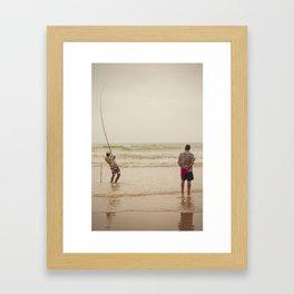 Pêche Framed Art Print