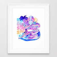hydra Framed Art Prints featuring HYDRA by Ginseng&Honey