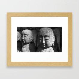Japanese Temple Statues Framed Art Print