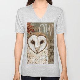 The Barn Owl Journal Unisex V-Neck