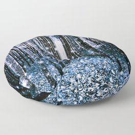 Magical Forest Dark Blue Elegance Floor Pillow