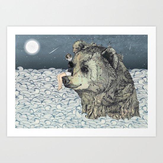Bear Rock Art Print