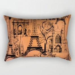 Paris - Rose Gold Rectangular Pillow