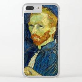 Vincent Van Gogh Self Portrait With Palette Clear iPhone Case