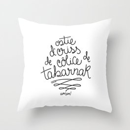 Sacres Québec - Black Throw Pillow