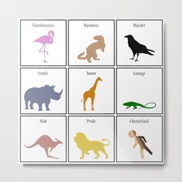 Collective Nouns in the Modern Age Metal Print