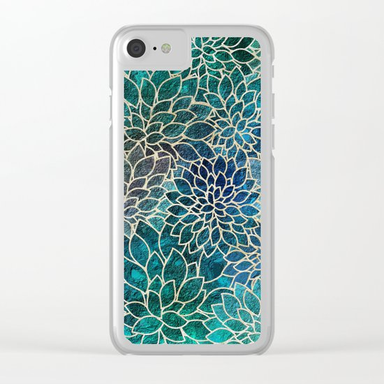 Floral Abstract 4 Clear iPhone Case