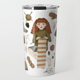 forest knitting Travel Mug
