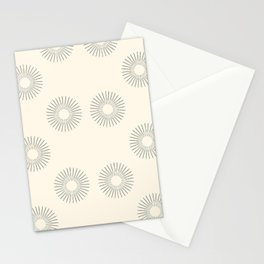 Abstract sun pattern  Stationery Cards