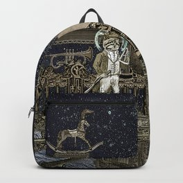 Oriental Steampunk Space Expess Backpack