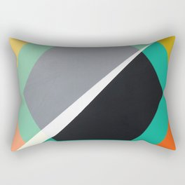 London - retro hexagon Rectangular Pillow