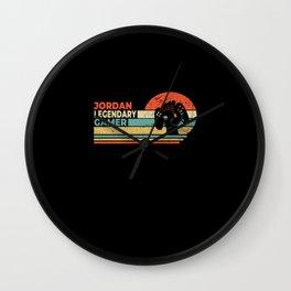 Jordan Legendary Gamer Personalized Gift Wall Clock