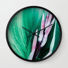 Pink Banana Flower Wall Clock